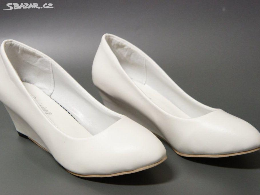 Svatební boty na klínku
