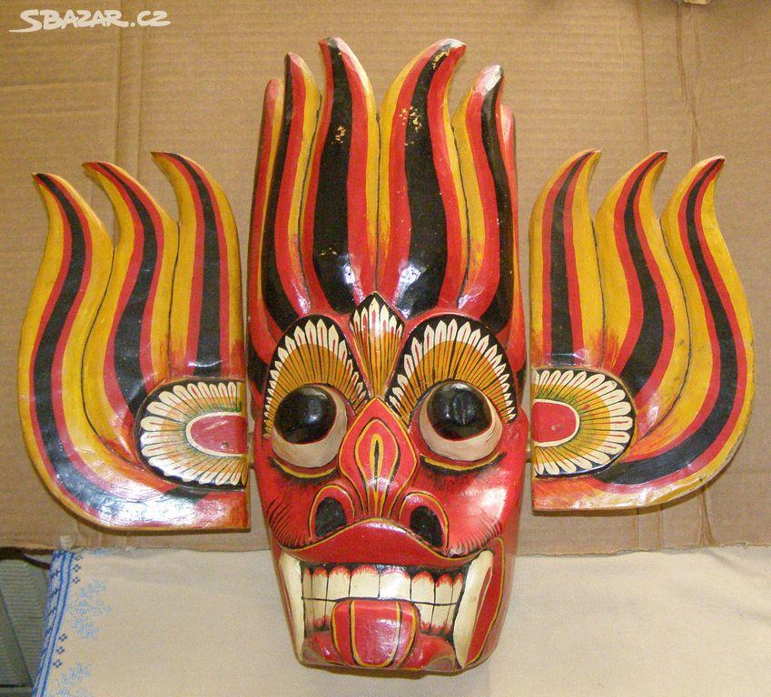 59e75554fd9 Dřevěná maska Malajsie - Praha - Sbazar.cz