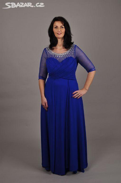 Krásné modré šifonové šaty - Vinary 5230aac309