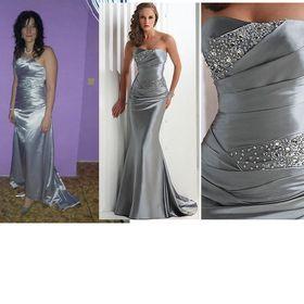 Dámské stříbrné plesové šaty s kamínky 01dad7ccd90