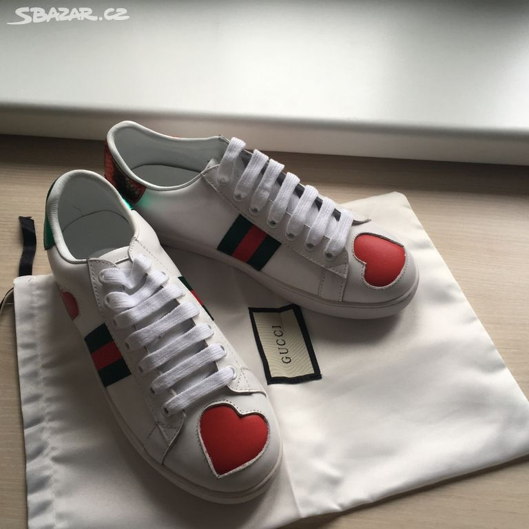 09e2caa361 Gucci heart sneakers kožené tenisky - Praha - Sbazar.cz