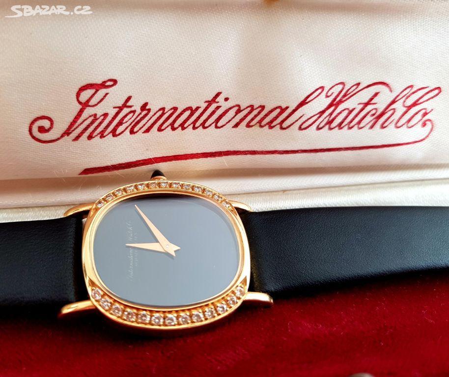 Zlaté dámské náramkové hodinky IWC - Praha - Sbazar.cz 1f685ac7bda