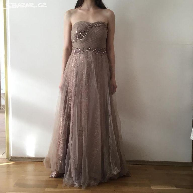 ced4b5b1857c Plesové maturitní šaty vel.38-40 - Praha - Sbazar.cz