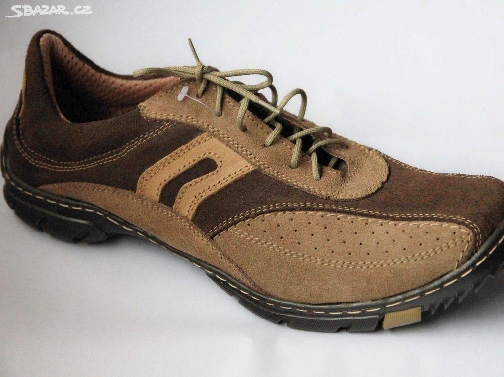 Nová pánská kožená obuv české výroby (NES) 44bb3bd3320