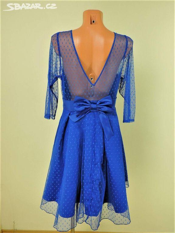 NOVÉ kralovsky modré šaty zn. Lindy Bop ac2a82ef03