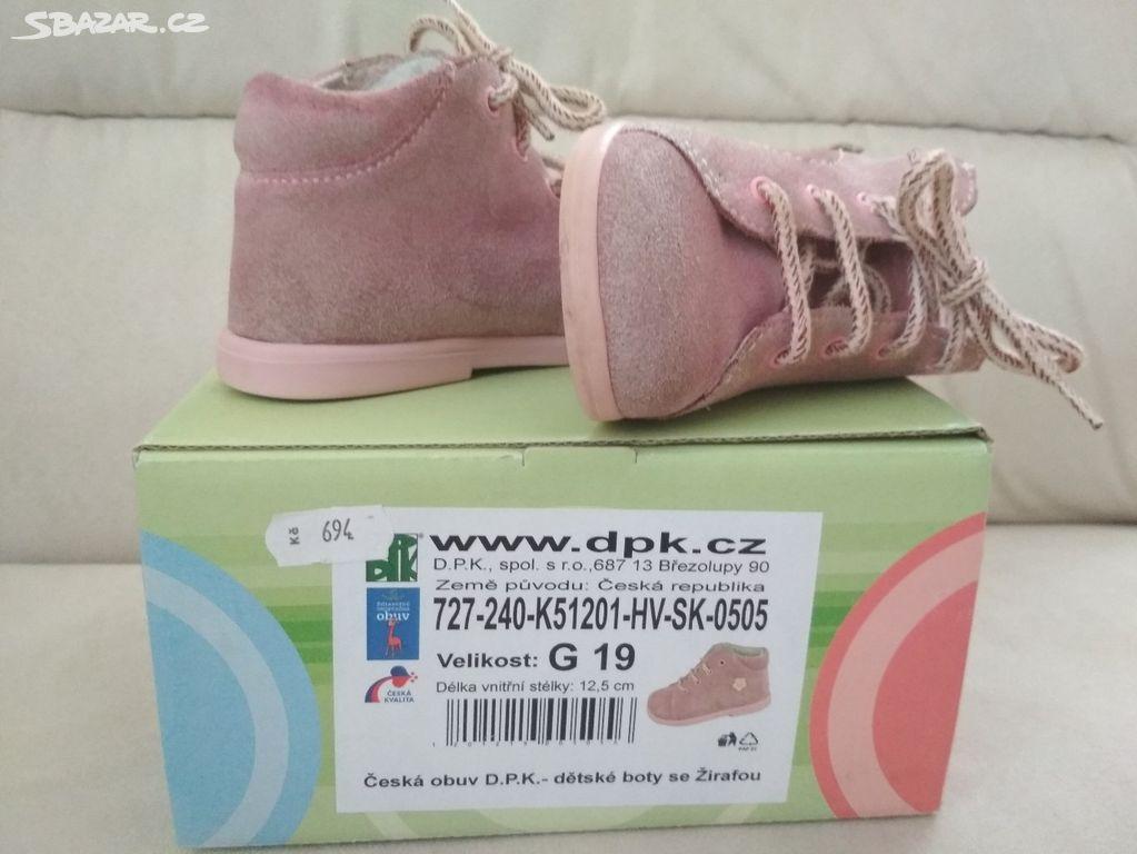 První botičky na jaro (zdravá obuv) vel. 19 - Zásmuky d08e1d7f0d