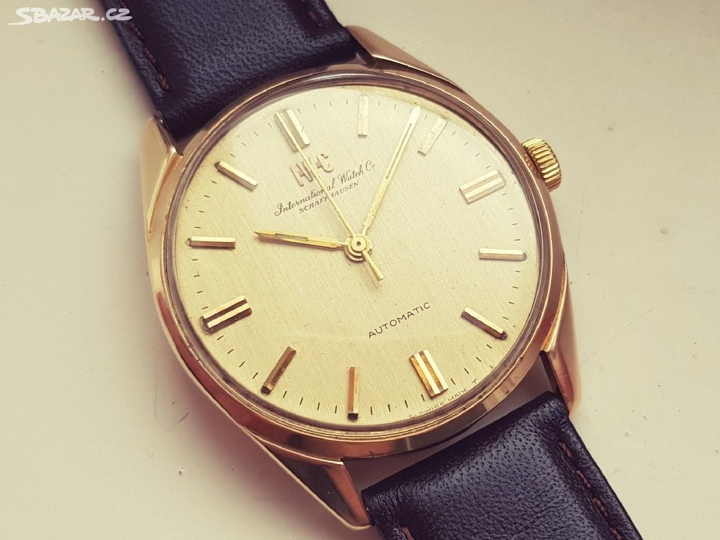 ad980a32f Pánské zlaté náramkové hodinky IWC Schaffhausen - Praha - Sbazar.cz