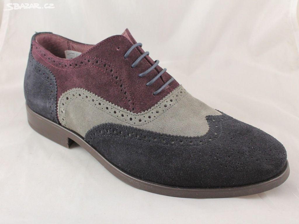 Pánské semišové společenské boty ASK THE MISSUS - Zaječov 8e16046af0