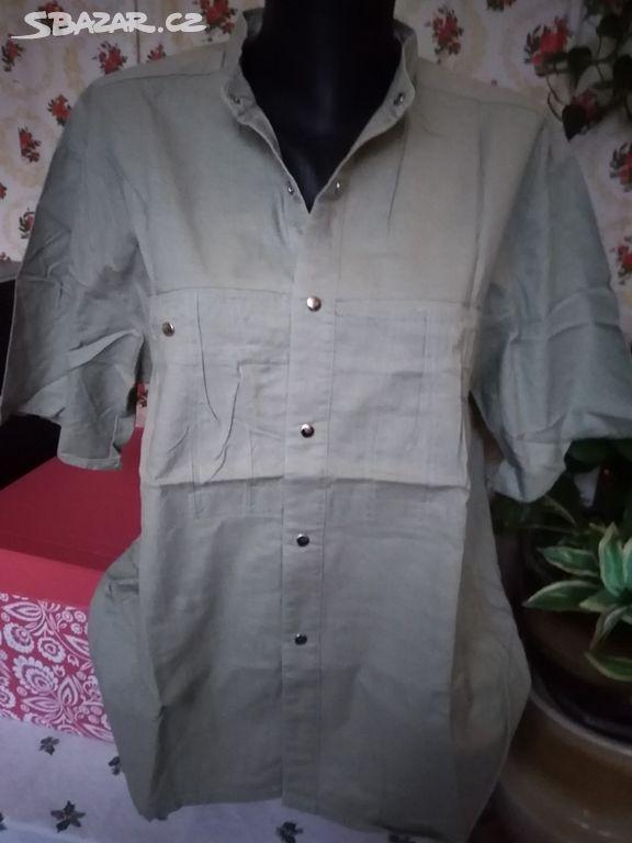 Khaki retro košile Kowa - Karlovy Vary - Sbazar.cz c7cc6984a8