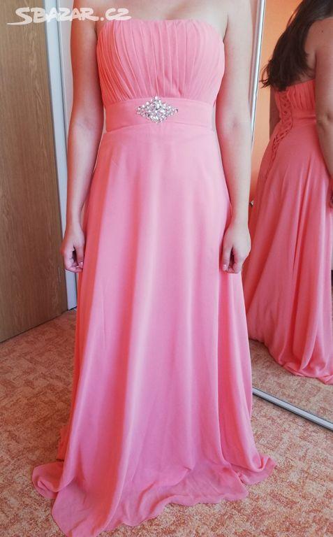 38738fd11b7 Lososové plesové šaty - Varnsdorf