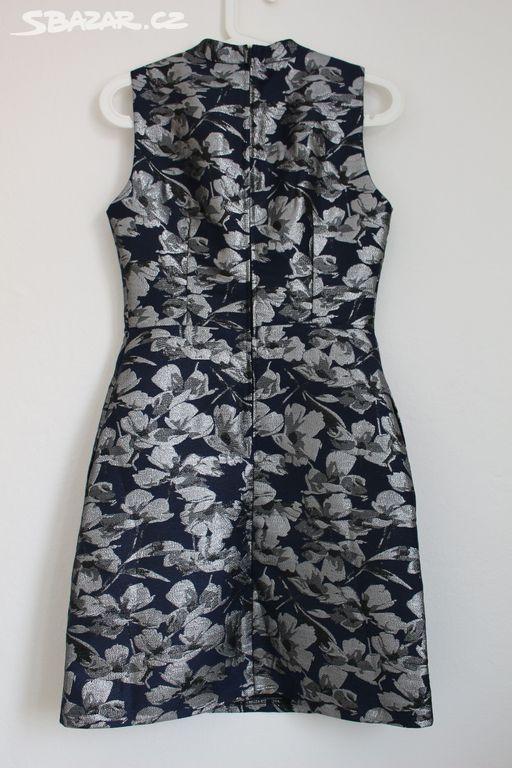 Žakárové šaty se stříbrnými květy Orsay 34 XS - Zlín - Sbazar.cz a1435353ae4