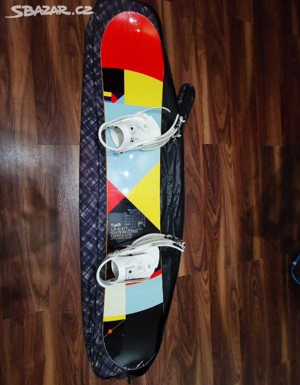 b94a59e0fc Snowboard Gravity Contra 150cm s vázání Westige - Kladno - Sbazar.cz