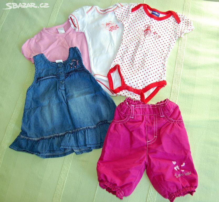 balík oblečení na kojence 0-12 měsíců - holka 45ks - Zeleneč 5d167f7412