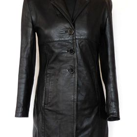 15db0e5de Kožený (pravá kůže)dámský černý kabát K-CERO v.S - Nymburk - Sbazar.cz
