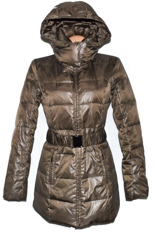Péřový dámský hnědý kabát s kapucí Camaieu 12 40 - Praha - Sbazar.cz 787107eca5