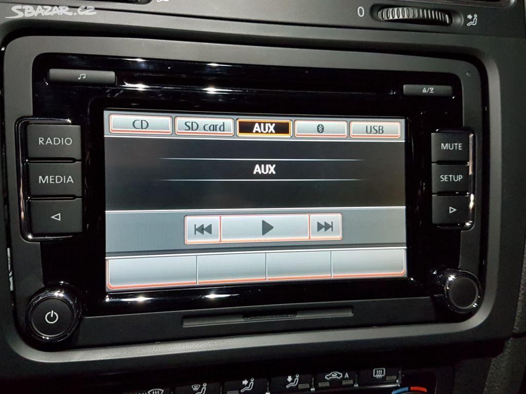 Autoradio VW RCD 510 s USB, AUX a kabeláží