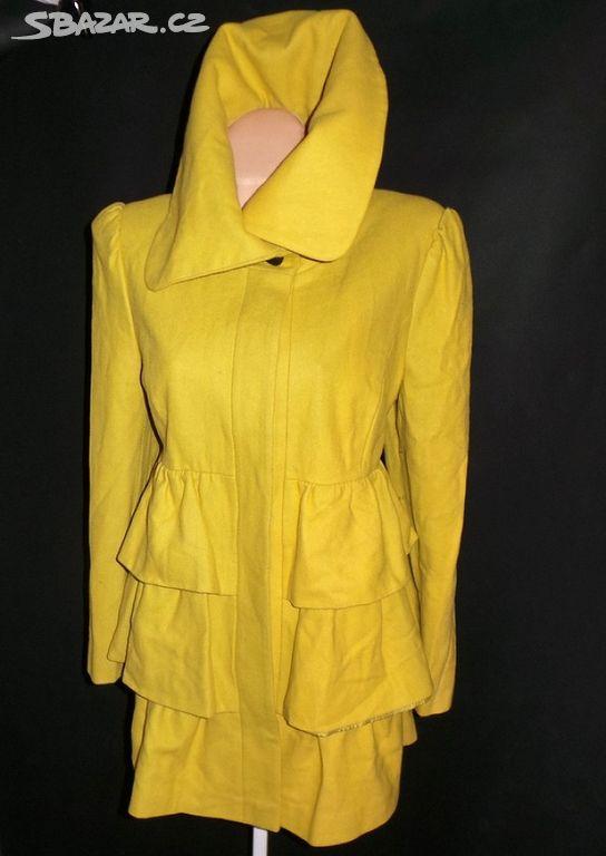 Vlněný dámský žlutý kabát Dorothy Perkins 16 44   - Praha - Sbazar.cz 8fbe4254e9