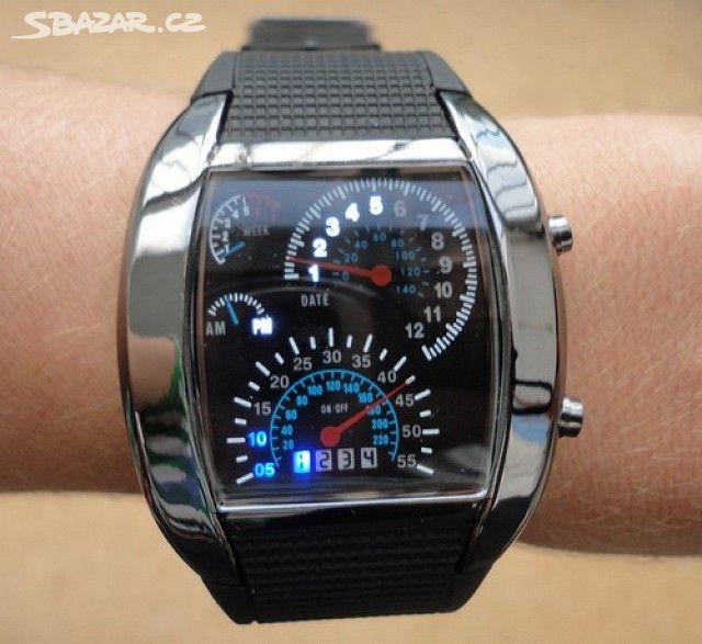 Moderní Binární LED hodinky Race Speed Car - Praha - Sbazar.cz 68323859feb