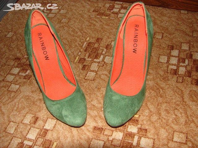 Prodám krásné zelené lodičky . vel. 39.délka - Hradiště 7c5838f863