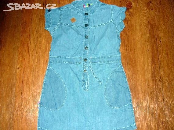 fdb050264f92 Prodám dívčí modré riflové šaty zn.Loap - Žatec