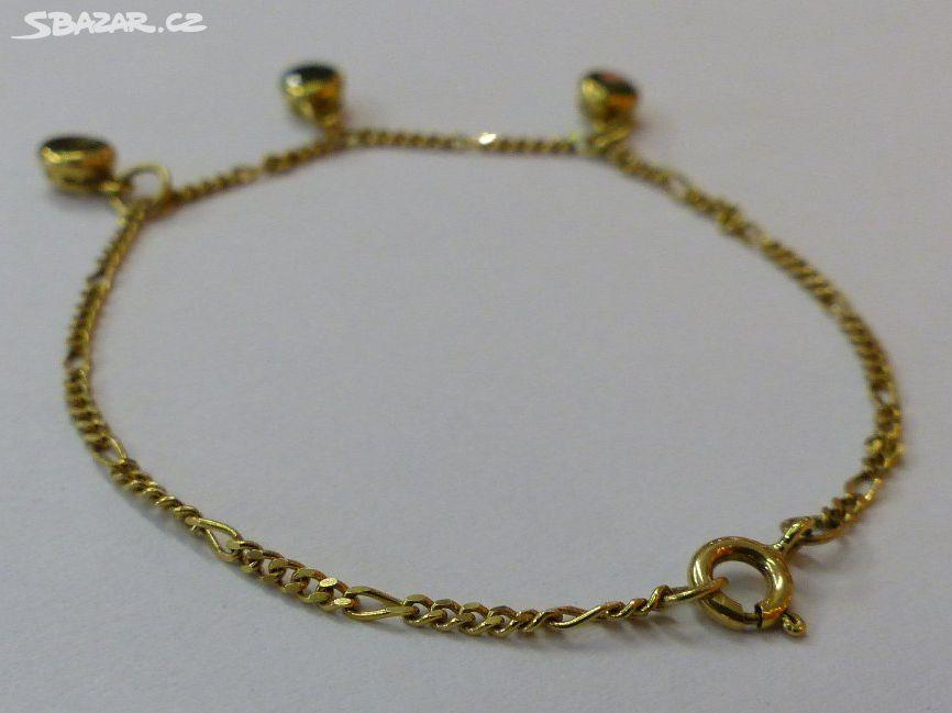 Zlatý náramek 3 b97189149f6
