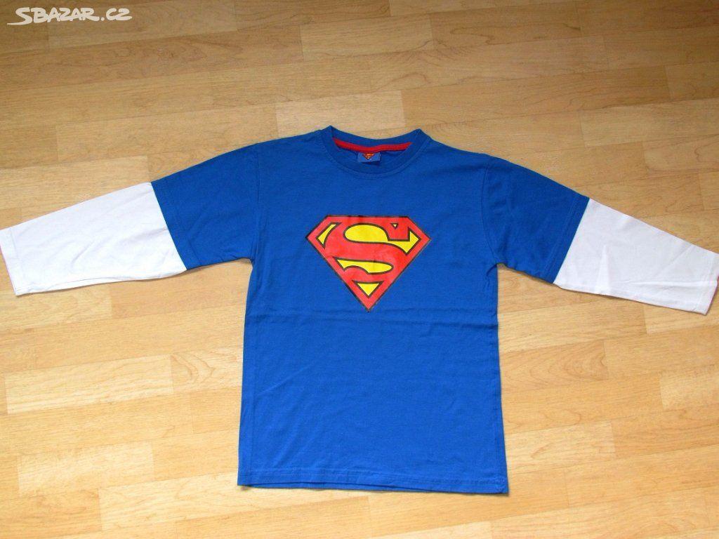 2fe574916be Tričko SUPERMAN s dlouhým rukávem vel. 146. - Chotěšice
