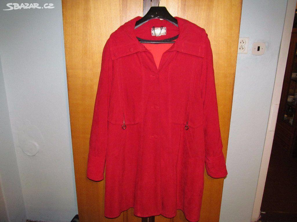 Kabát-červený- na -jaro-i-na-zimu- s -vložkou - Litvínov 8e1094590f