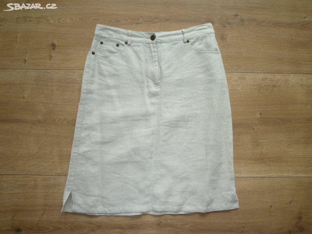 fcb2293004f1 Dámská sukně HENNES vel.36 lněné režné plátno - Vysoké Mýto