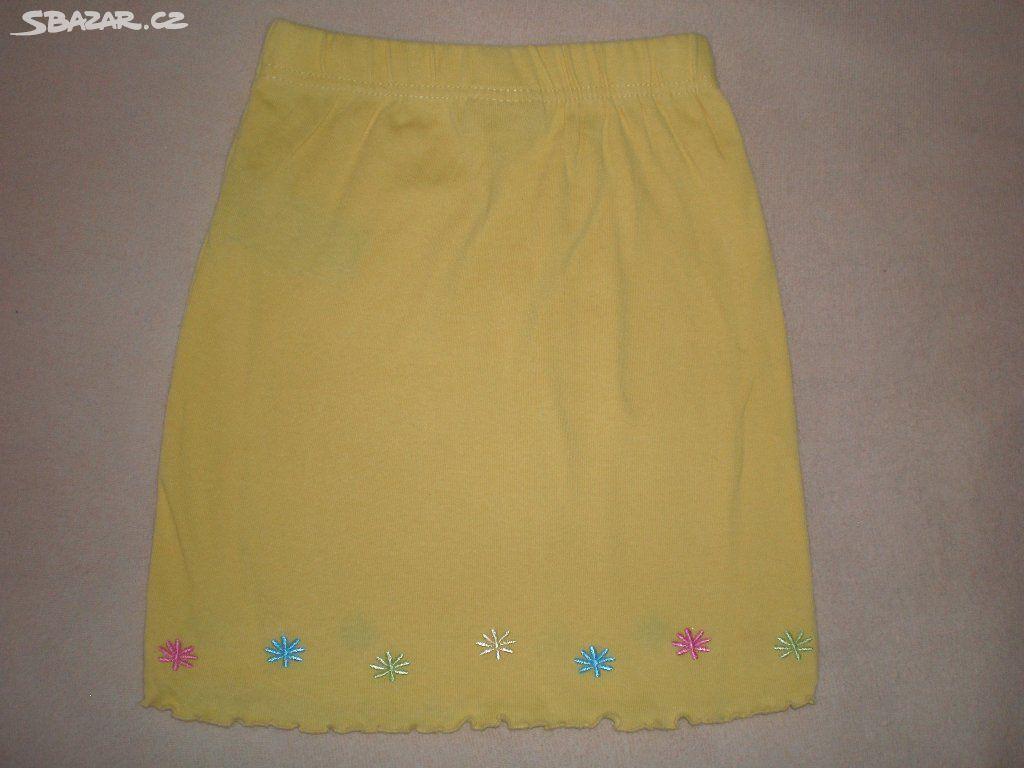 Dívčí žlutá sukně vel. 110 95166e1ced