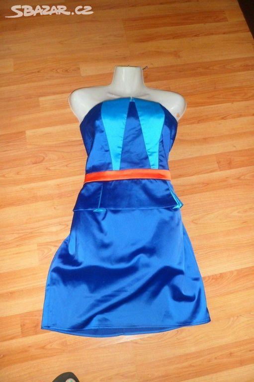 Modré krátké společenské šaty vel 42 - Opava - Sbazar.cz f4f1c8f0ae