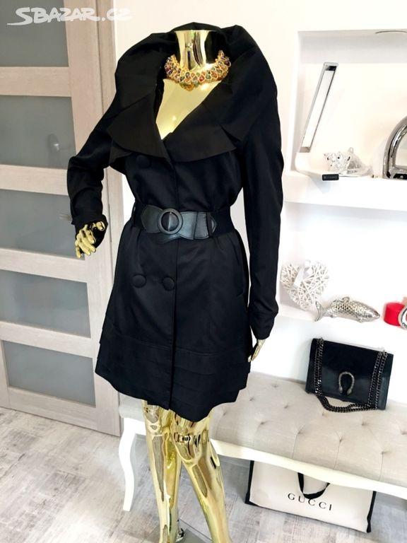 Luxusní jarní černý kabát z Ruska Ví Ví . M 40 - Horoměřice ec62ada700b