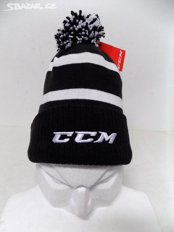 Zimní čepice (kulich) CCM -zcela nová (černo-bílá) - Prostějov ... e9e64c522e