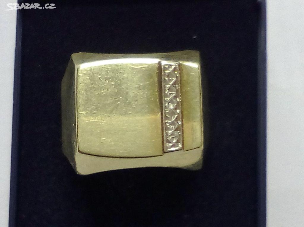 3aeb23f6982 Pánský Zlatý prsten - Hodonín - Sbazar.cz