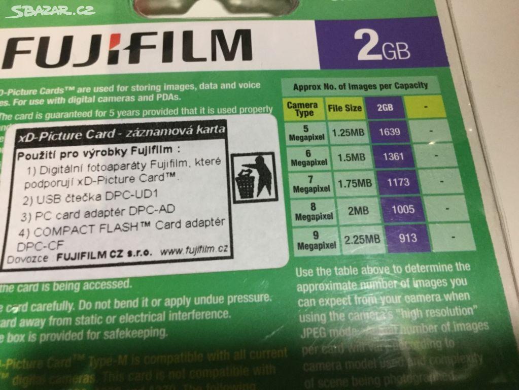 Xd Pametova Karta 2gb Fujifilm Nova Praha Sbazar Cz