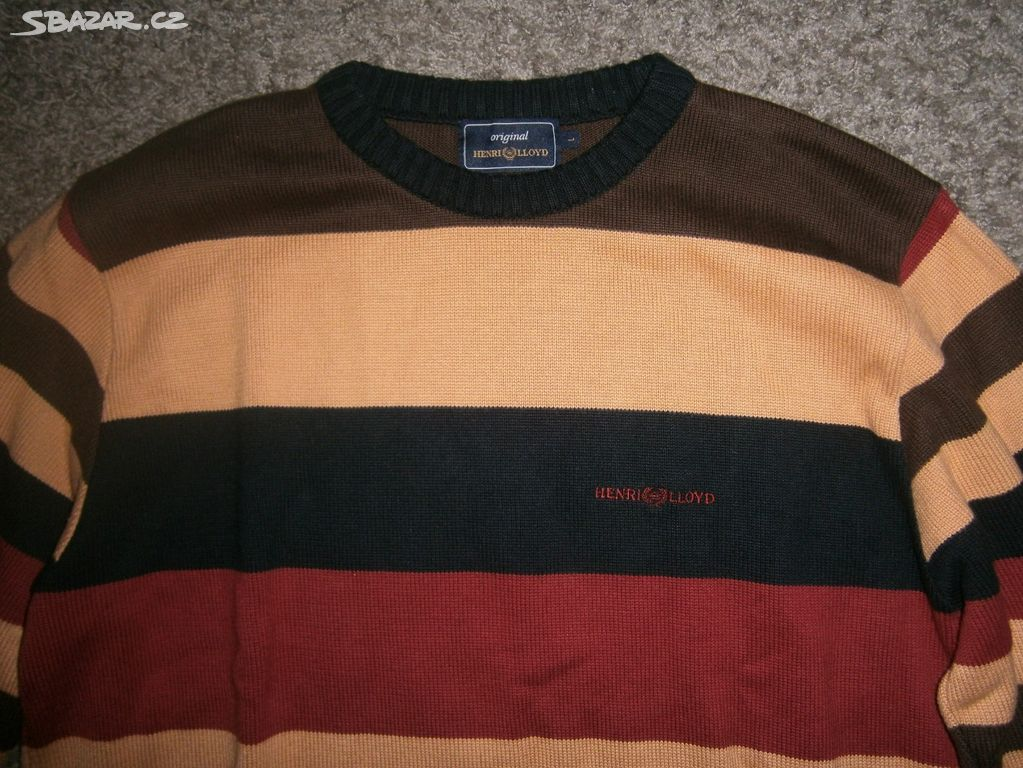 deb0b9cc61d Pruhovaný pánský svetr značky HENRI LLOYD