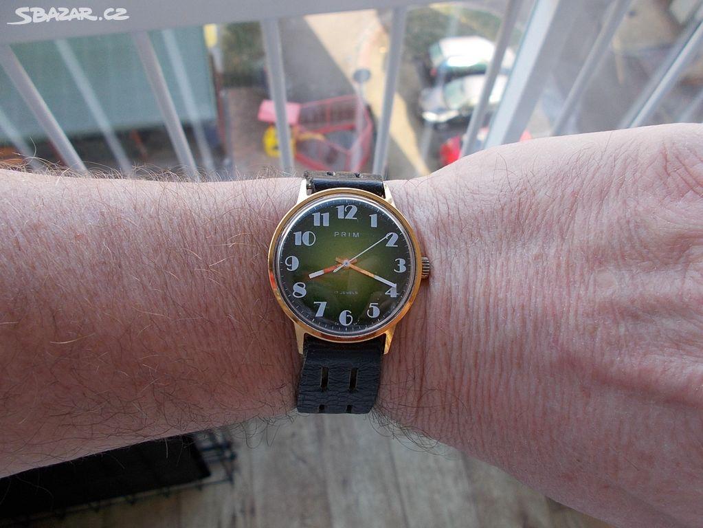 mene vidane luxusni zeleny typ hodinky prim 1980 - Pardubice - Sbazar.cz 3ab3e0d654