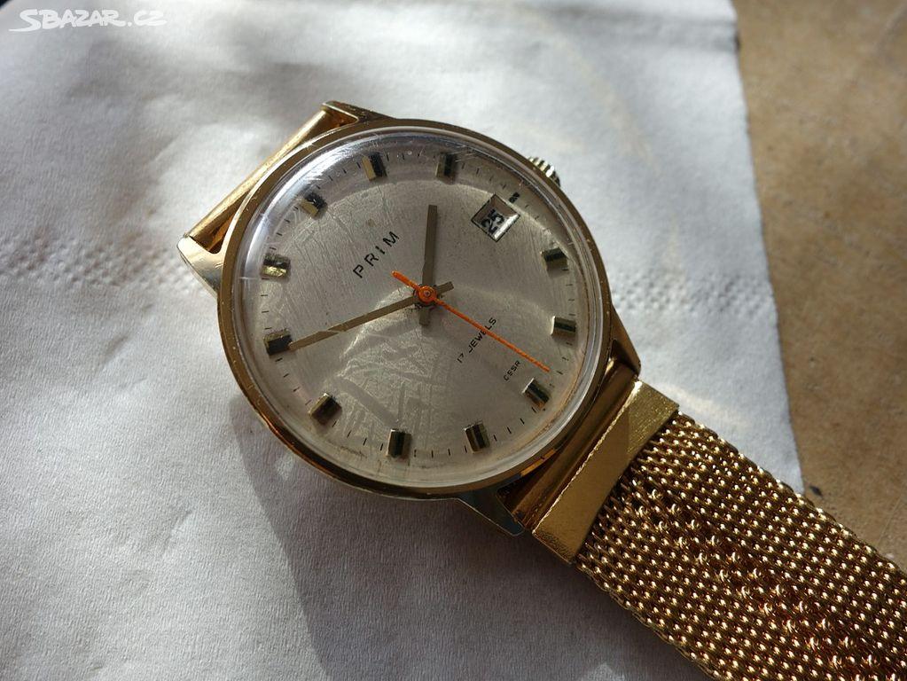 7d50da351 Další,staré,funkční pozl. mechanické hodinky Prim - Klášterec nad ...