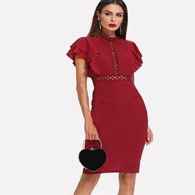 Dámské červené šaty s volánem - Praha - Sbazar.cz 9c885291fe