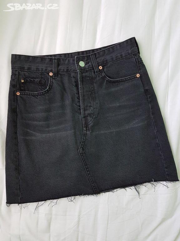 Riflová sukně vel. 36 4 Denim H M - Litovel a3ebab2820